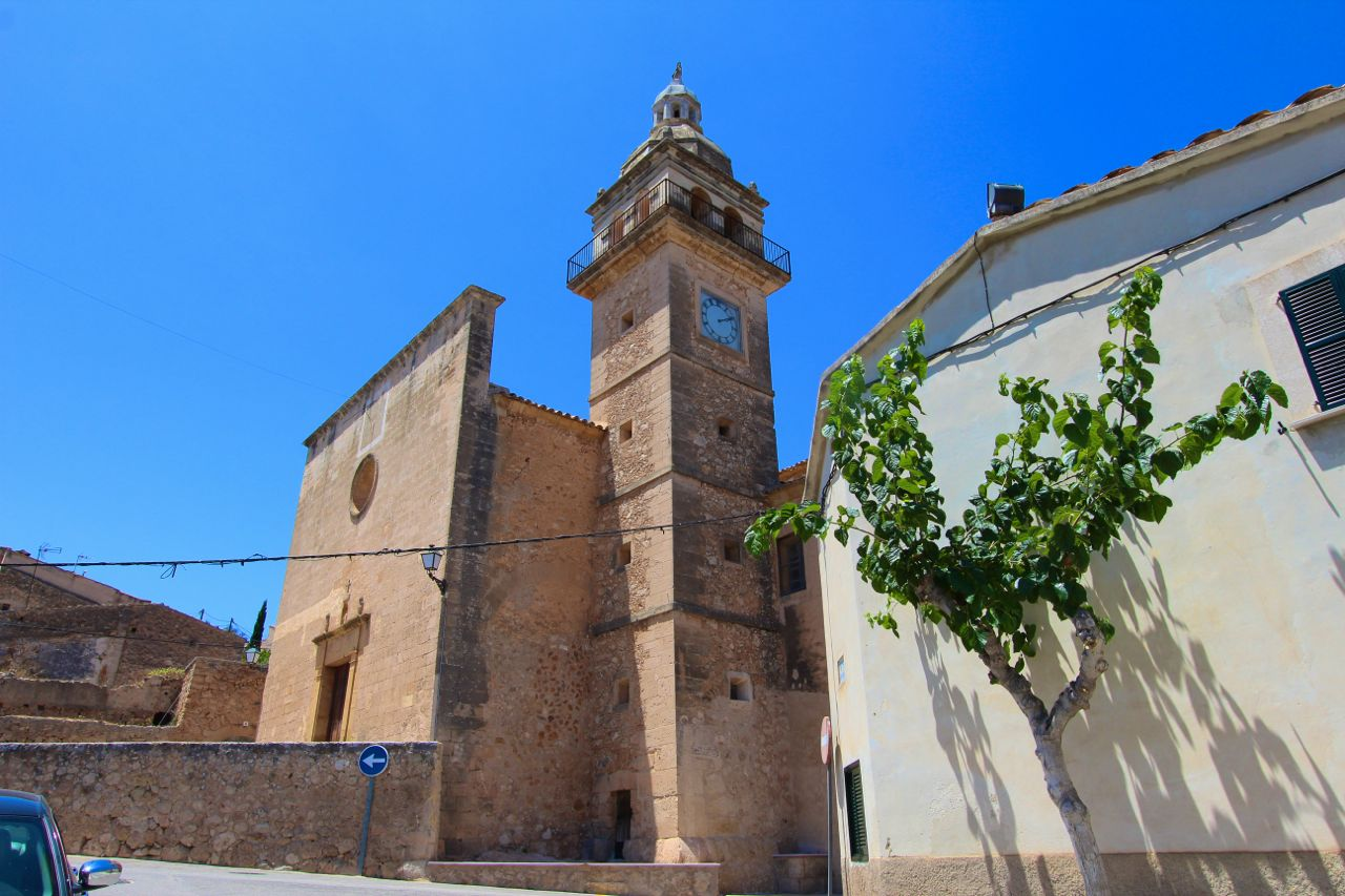 The beautiful medieval town of Santa Eugenia