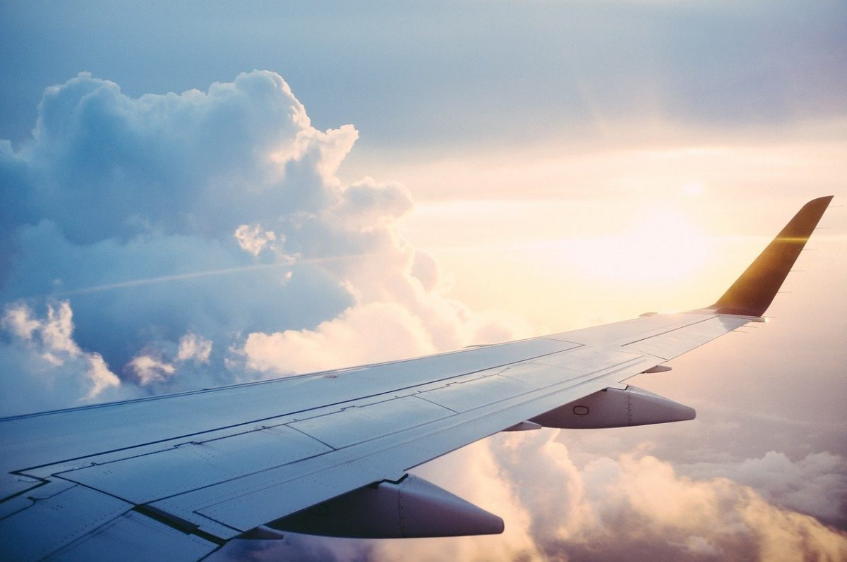 Flying towards your next holiday destination?
